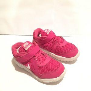 Nike Girls Lunar Forever Pink Sneakers Sz 10